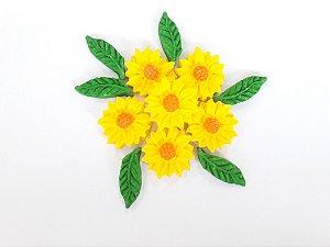 Confeitos comestíveis Margarida GG Amarela Ref. 76 Jeni Joni Rizzo Confeitaria