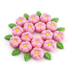 Confeitos comestíveis Margarida Grande Rosa Ref. 71 Jeni Joni Rizzo Confeitaria