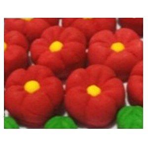 Confeitos comestíveis Margarida Grande Vermelha Ref. 71 Jeni Joni Rizzo Confeitaria