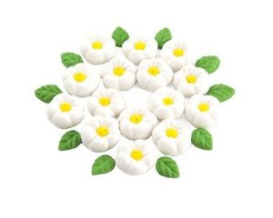 Confeitos comestíveis Margarida Grande Branca Ref. 71 Jeni Joni Rizzo Confeitaria