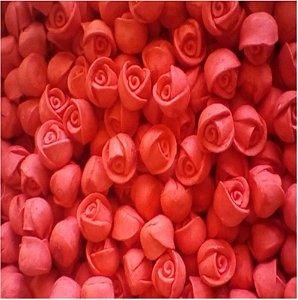 Confeitos comestíveis Rosa Botão Vermelho Ref. 01N Jeni Joni Rizzo Confeitaria