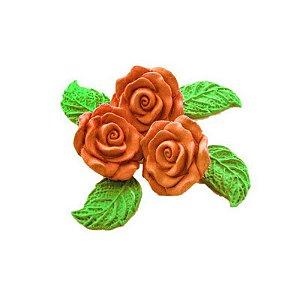 Confeitos comestíveis Rosa Grande Laranja Ref. 68 Jeni Joni Rizzo Confeitaria