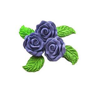 Confeitos comestíveis Rosa Grande Lilás  Ref. 68 Jeni Joni Rizzo Confeitaria