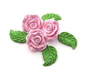 Confeitos comestíveis Rosa Grande Rosa  Ref. 68 Jeni Joni Rizzo Confeitaria