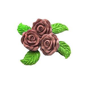 Confeitos comestíveis Rosa Grande Salmão Ref. 68 Jeni Joni Rizzo Confeitaria