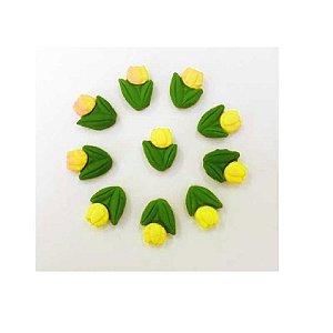 Confeitos comestíveis Tulipa Amarela Ref. 78 Jeni Joni Rizzo Confeitaria