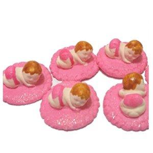 Confeitos comestíveis Bebe Manta Rosa Ref. 04 Jeni Joni Rizzo Confeitaria