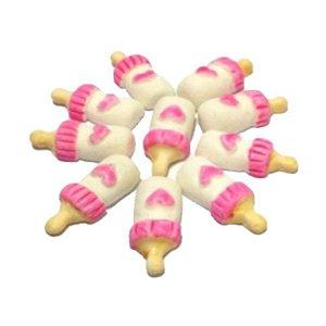 Confeitos comestíveis Mamadeira Pequena Rosa Ref. M03 Jeni Joni Rizzo Confeitaria