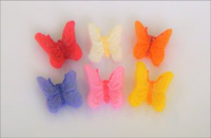 Confeitos comestíveis Borboletas 3D Ref. 157  Jeni Joni Rizzo Confeitaria