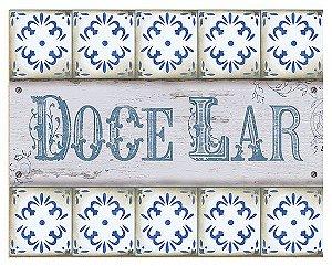 Placa Decor Home Doce Lar DHPM-002 Litoarte Rizzo Confeitaria