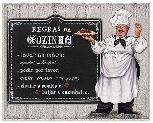 Placa Decor Home Cozinheiro DHPM-003 Litoarte Rizzo Confeitaria