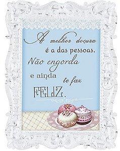 Placa Decor Home Moldura Macaron DHPM-074 Litoarte Rizzo Confeitaria