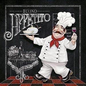 Placa Decor Home Buono Appetito DHPM-104 Litoarte Rizzo Confeitaria