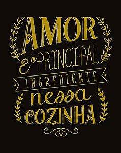 Placa Decor Home Placa Lousa Amor DHPM-301 Litoarte Rizzo Confeitaria