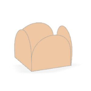 Forminha 4 Pétalas Areia Cod. 10.63 com 50 un. Nc Toys Rizzo Confeitaria