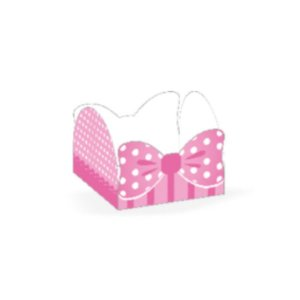Forminha 4 Pétalas Laço Rosa Cod. 41.3 com 50 un. Nc Toys Rizzo Confeitaria
