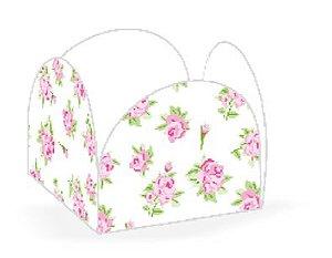 Forminha 4 Pétalas Floral Branca Cod. 48.1 com 50 un. Nc Toys Rizzo Confeitaria