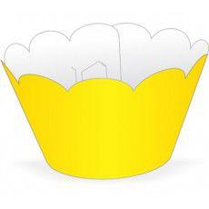 Wrapper para CupCake Tradicional Amarelo Cod. 12.3 com 12 un. Nc Toys Rizzo Confeitaria
