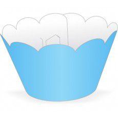 Wrapper para CupCake Tradicional Azul Claro Cod. 12.6 com 12 un. Nc Toys Rizzo Confeitaria