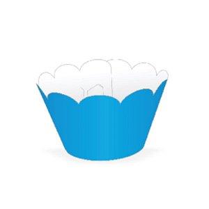 Wrapper para CupCake Tradicional Azul Cod. 12.5 com 12 un. Nc Toys Rizzo Confeitaria