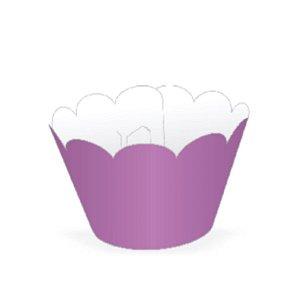 Wrapper para CupCake Tradicional Lilás Cod. 12.11 com 12 un. Nc Toys Rizzo Confeitaria