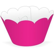 Wrapper para CupCake Tradicional Pink Cod. 12.10 com 12 un. Nc Toys
