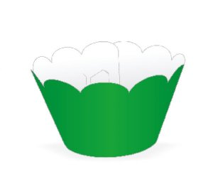 Wrapper para CupCake Tradicional Verde Bandeira Cod. 12.8 com 12 un. Nc Toys