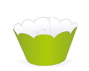 Wrapper para CupCake Tradicional Verde Limão Cod. 12.7 com 12 un. Nc Toys Rizzo Confeitaria