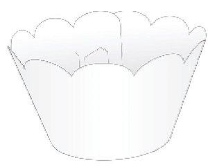 Mini Wrapper para CupCake Branco Cod. 20.1 com 12 un. Nc Toys Rizzo Confeitaria