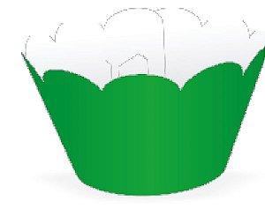 Mini Wrapper para CupCake Verde Bandeira Cod. 20.18 com 12 un. Nc Toys