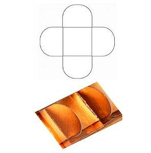 Forminha 4 Pétalas Bronze Laminada com 50 un. Assk Emb. Rizzo Confeitaria