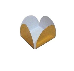 Forminha 4 Pétalas Ouro Laminada com 50 un. Assk Emb. Rizzo Confeitaria