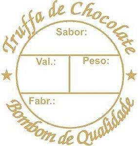 Etiqueta Adesiva Truffas Cod. 054 c/ 100 un. Massai Rizzo Confeitaria