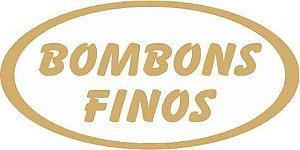 Etiqueta Adesiva Bombons Finos Cod. 066 c/ 100 un. Massai Rizzo Confeitaria