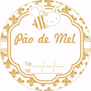 Etiqueta Adesiva Pão de Mel Cod. 88 c/ 50 un. Massai Rizzo Confeitaria