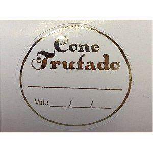 Etiqueta Adesiva Cone Trufado c/ 1000 un. Rizzo Confeitaria