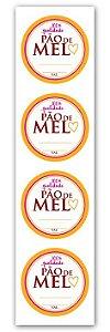 Etiqueta Adesiva Pão de Mel Cod. 4854 c/ 20 un. Miss Embalagens Rizzo Confeitaria