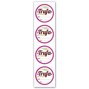 Etiqueta Adesiva Trufa Cod. 4847 c/ 20 un. Miss Embalagens Rizzo Confeitaria