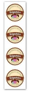 Etiqueta Adesiva Brigadeiro Cod. 6537 c/ 20 un. Miss Embalagens Rizzo Confeitaria