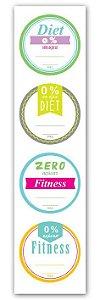 Etiqueta Adesiva Fitness Cod. 5561 c/ 20 un. Miss Embalagens Rizzo Confeitaria