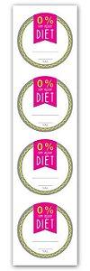 Etiqueta Adesiva Diet Cod. 6278 c/ 20 un. Miss Embalagens Rizzo Confeitaria