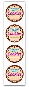 Etiqueta Adesiva Cookies Cod. 6353 c/ 20 un. Miss Embalagens Rizzo Confeitaria