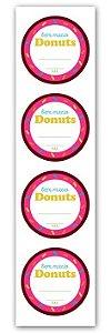Etiqueta Adesiva Donuts Cod. 5547 c/ 20 un. Miss Embalagens Rizzo Confeitaria