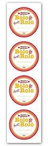 Etiqueta Adesiva Bolo de Rolo Cod. 4670 c/ 20 un. Miss Embalagens Rizzo Confeitaria