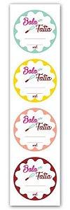 Etiqueta Adesiva Bolo em Fatia Cod. 6315 c/ 20 un. Miss Embalagens Rizzo Confeitaria