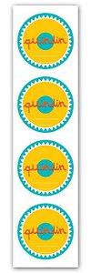 Etiqueta Adesiva Quindim Cod. 6544 c/ 20 un. Miss Embalagens Rizzo Confeitaria