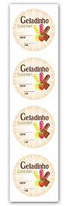 Etiqueta Adesiva Geladinho Gourmet Cod. 6506 c/ 20 un. Miss Embalagens Rizzo Confeitaria