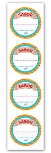 Etiqueta Adesiva Sabor Cod. 6322 c/ 20 un. Miss Embalagens Rizzo Confeitaria
