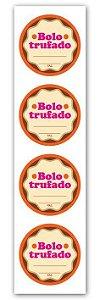 Etiqueta Adesiva Delícia Caseira Cod. 6561 c/ 20 un. Miss Embalagens Rizzo Confeitaria