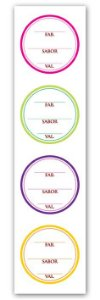 Etiqueta Adesiva Fabricação, Sabor e Validade Cod. 5554 c/ 20 un. Miss Embalagens Rizzo Confeitaria